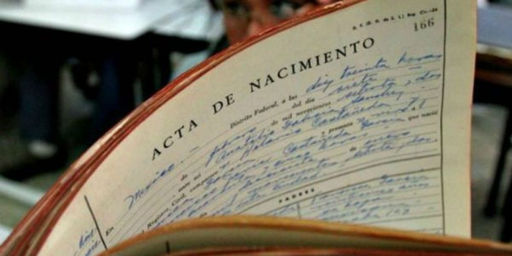 Certificado de Nacimiento del Registro Civil de Logroño